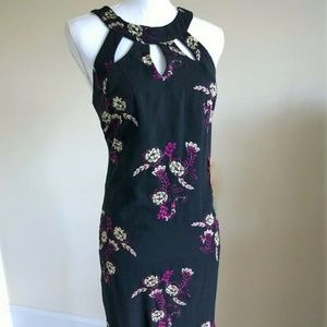 NWT Allover Embroidered Halter Gown Size 6